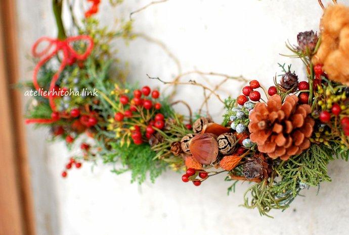 クリスマスリースのWS・雑貨スタジオRoom @ 雑貨スタジオ・Room