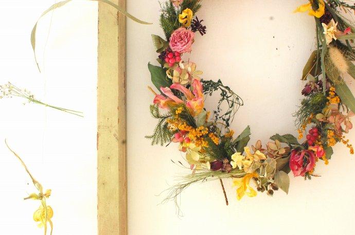 春のお花のドライリースのワークショップ @ SugarCOAT