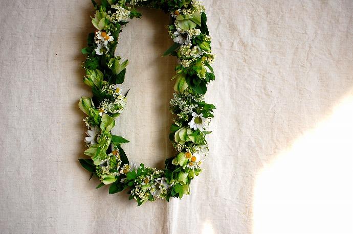 白い小花のリース作り @ SugarCOAT